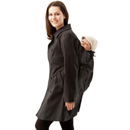 Trench Coat vêtement de portage et grossesse Mamalila