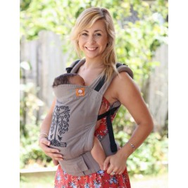 Baby carrier TULA Standard Humming birds Grey