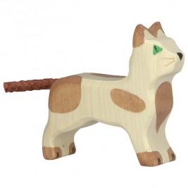 Petit chat debout Holztiger