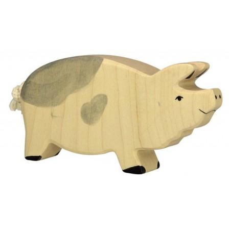 Truie tachetée en bois Holztiger