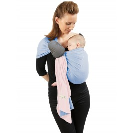 JPMBB Little no-tie Wrap Pink Balerina - Blue