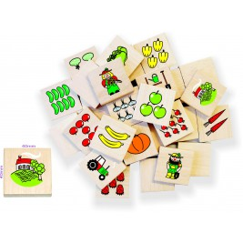 Game memory in wood: the vegetable garden