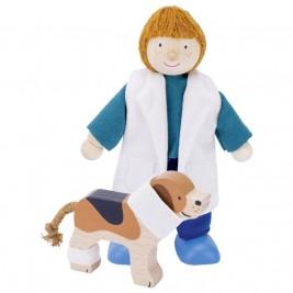 Doll flexible wood Goki - Veterinary