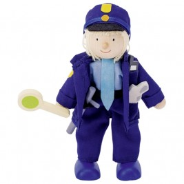 Doll flexible Goki - Police officer