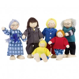 Family of the city, articulated puppets Goki