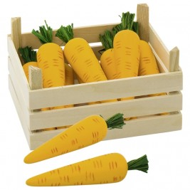 Crates of carrots, wood Goki
